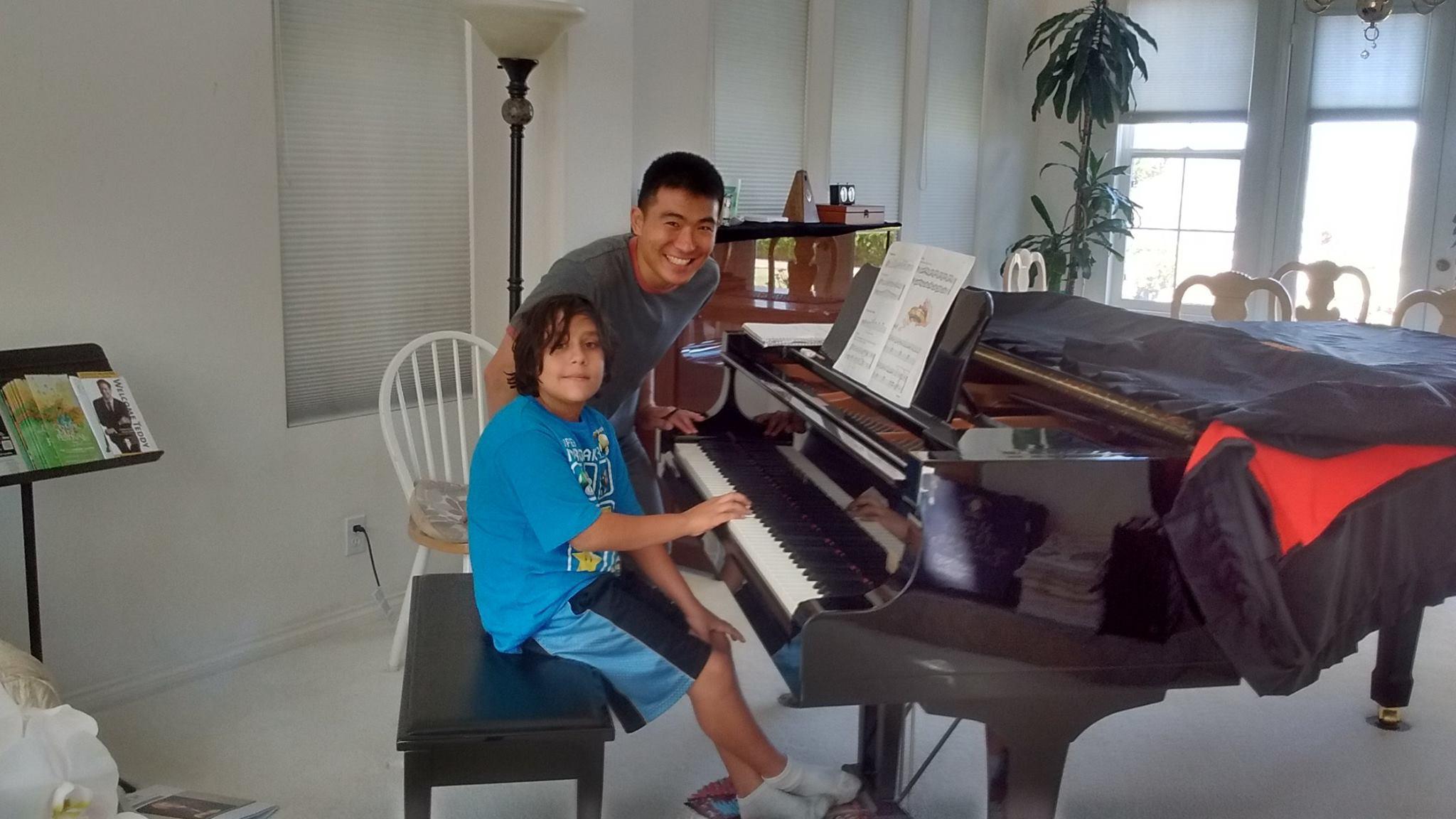 Sebastian Teaching Piano